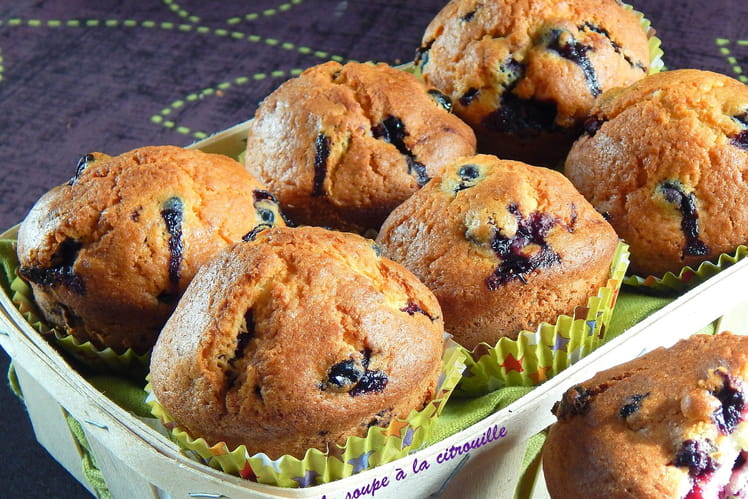 Muffins aux cassis