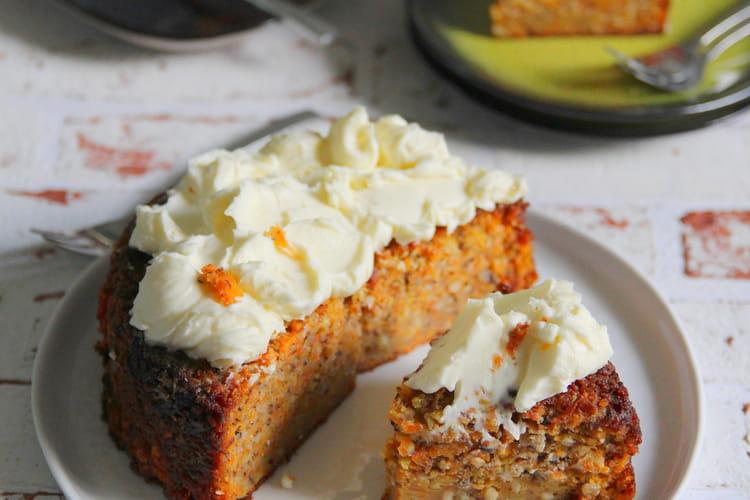 Carrot cake et son nappage au mascarpone