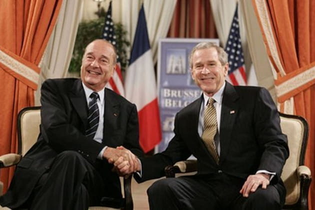 Jacques Chirac et George W. Bush : Réconciliation ?