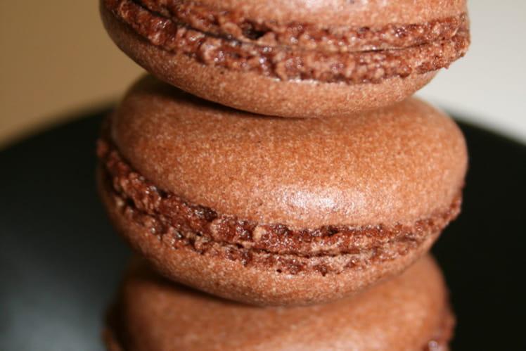 Petits macarons tout chocolat