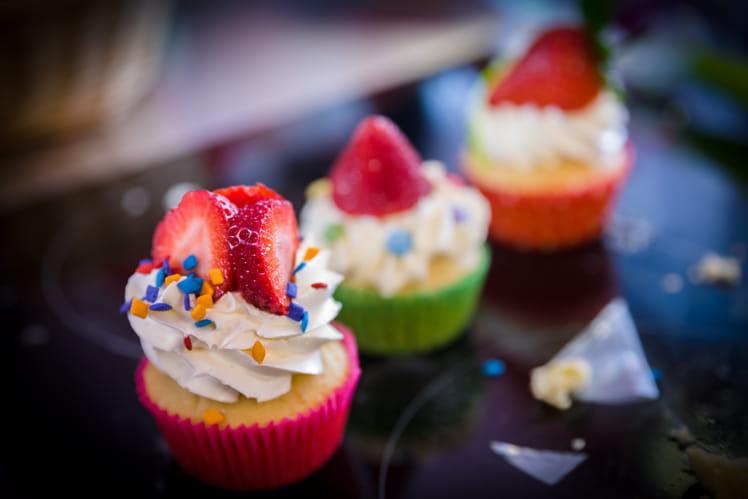 Cupcakes gourmands à la fraise