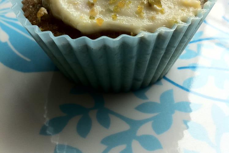 Cupcakes myrtille, glaçage citron