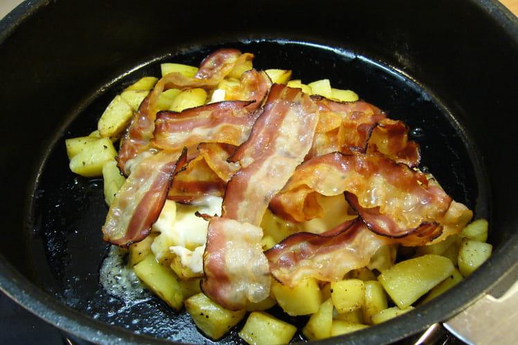 Pommes de terre au munster et au lard
