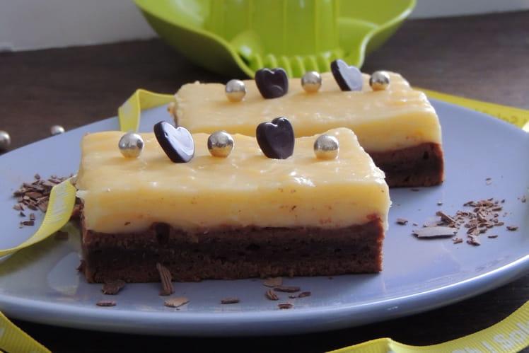 Brownie et crème au citron