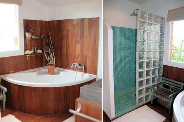 une salle de bains fonctionnelle. Black Bedroom Furniture Sets. Home Design Ideas