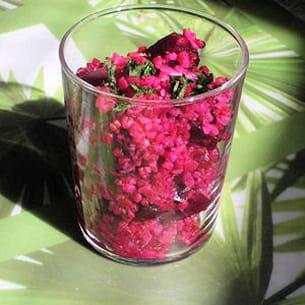 taboulé rose aux betteraves