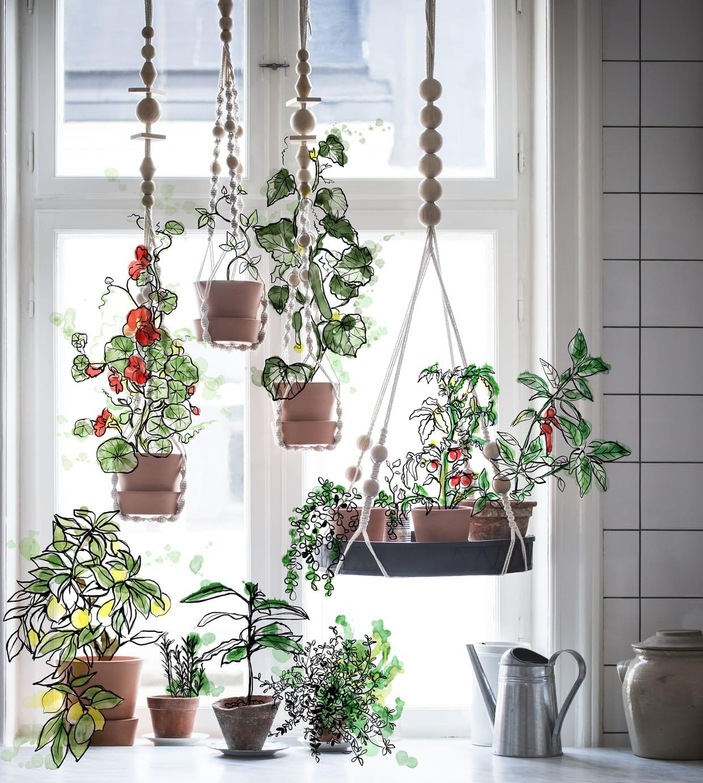 plateau pour plantes accrocher anv ndbar d 39 ikea. Black Bedroom Furniture Sets. Home Design Ideas