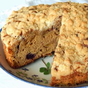 gâteau crumble aux pommes irlandais