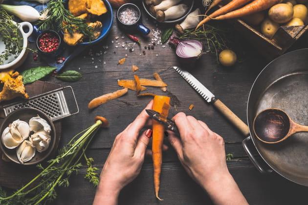 Les épluchures de légumes