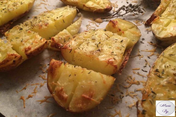 Pommes de terre quadrillées au parmesan