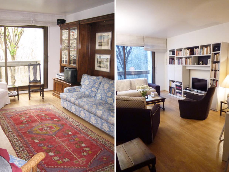 avant apr s un appartement modernis. Black Bedroom Furniture Sets. Home Design Ideas