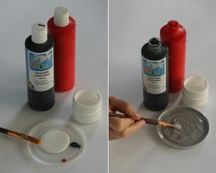 mélanger les peintures