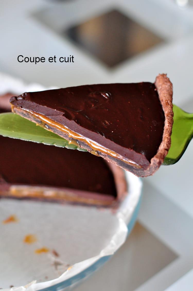Tarte Au Chocolat Et Au Caramel Au Beurre Sale