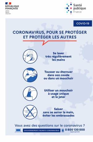 affiche geste barrière coronavirus