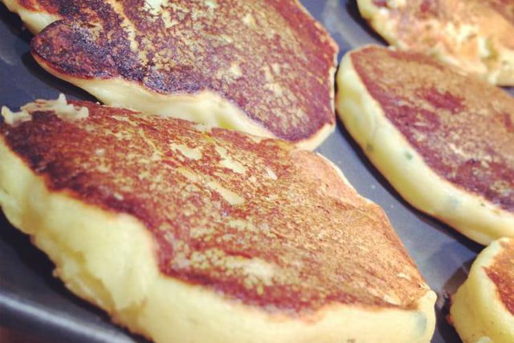 Pancake de pomme de terre échalote ciboulette