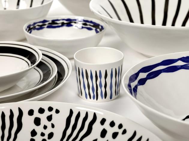 De la vaisselle dessinée
