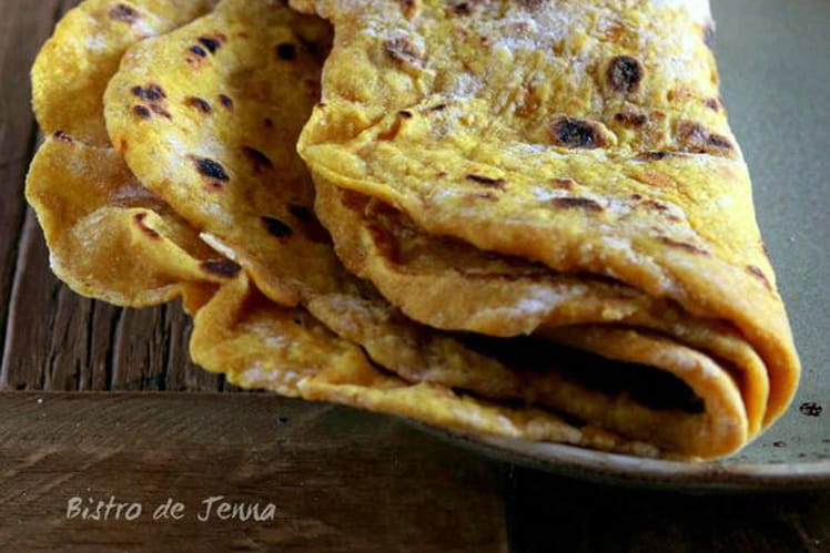 Tortillas maison à la patate douce