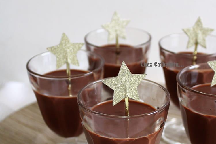Crèmes gourmandes au chocolat et à la crème de marron
