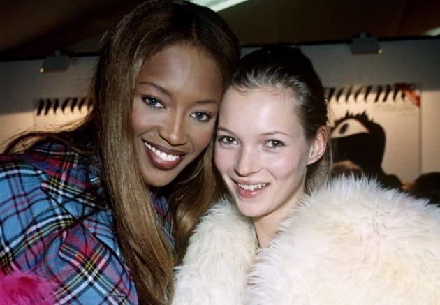 Naomi Campbell et Kate Moss le 15janvier 1993