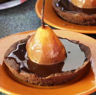 tartelette poire chocolat