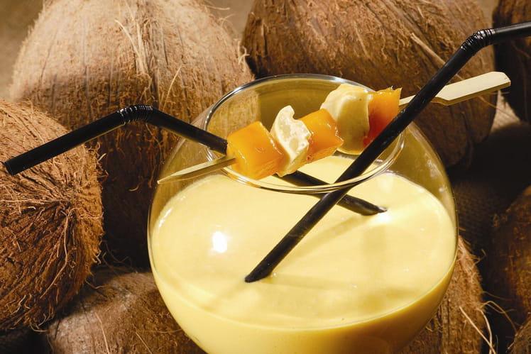 Cocktail coco, mangue, passion et guimauve