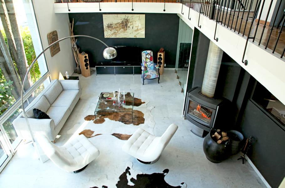 Salon contemporain le salon noir et blanc un for Salon blanc contemporain