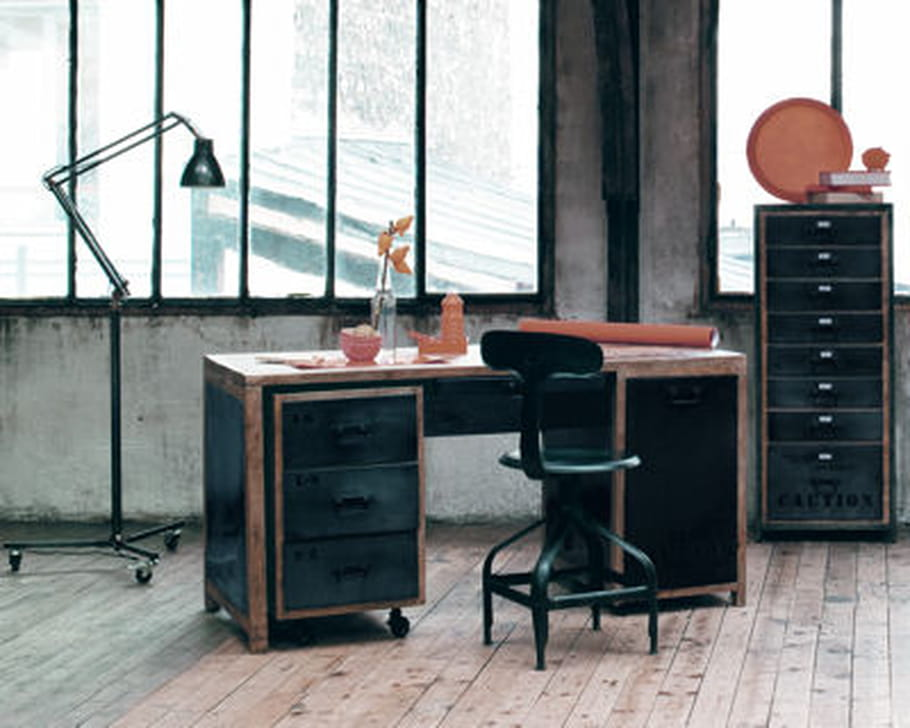 bureau manufacture de maisons du monde. Black Bedroom Furniture Sets. Home Design Ideas