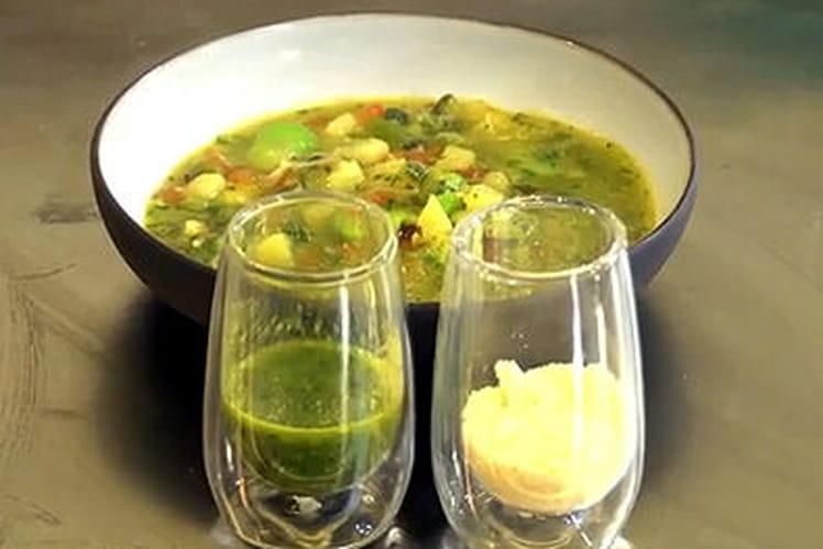 Soupe au pistou de Christian Etchebest