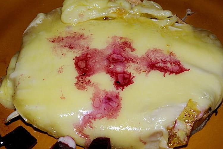 Toasts gratinés aux endives et au vacherin