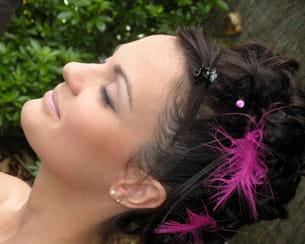 aurélie et sa coiffure rock