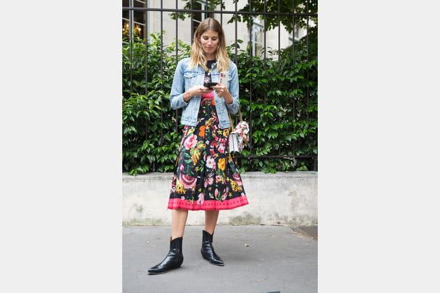 Street style à Paris : les santiags détournées