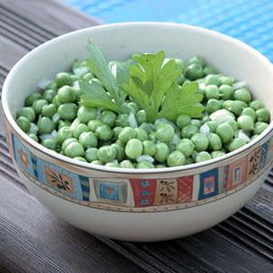 salade de petits pois frais