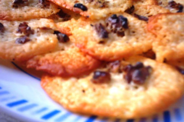 Bouchées raclette et noix