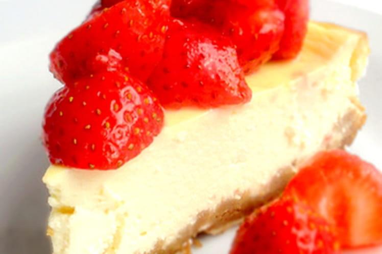 Cheesecake à la marinade de fraises