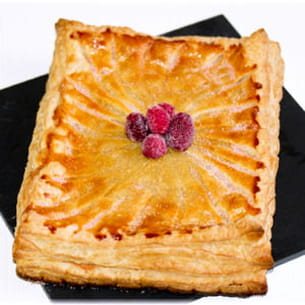 galette aux biscuits roses et framboises