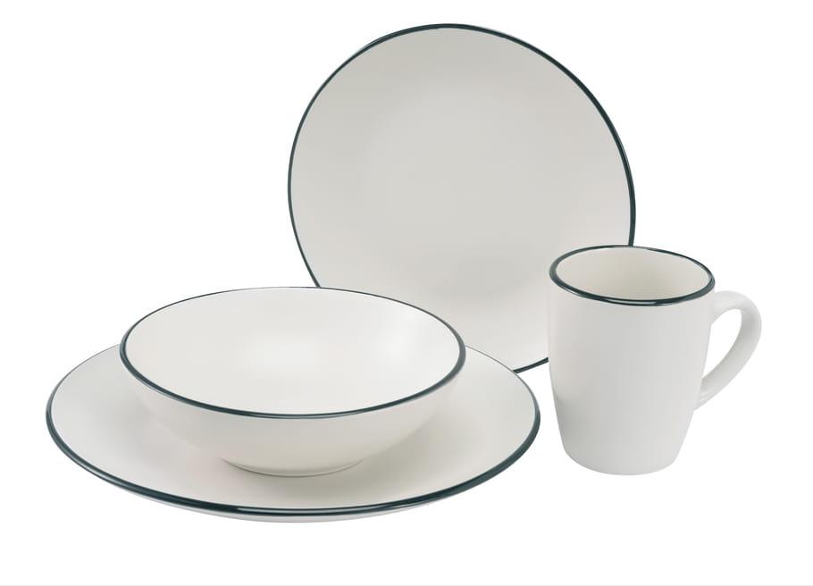 Vaisselle en noir et blanc je change ma vaisselle pour for Service de table noir et blanc