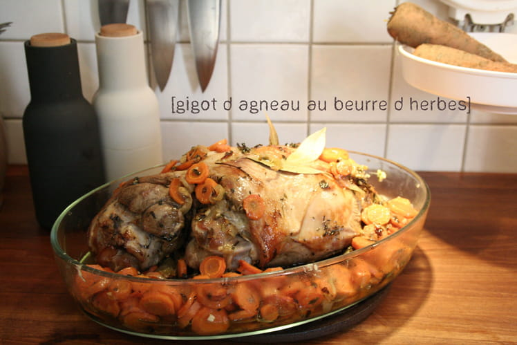 Gigot d'Agneau au beurre d'Herbe