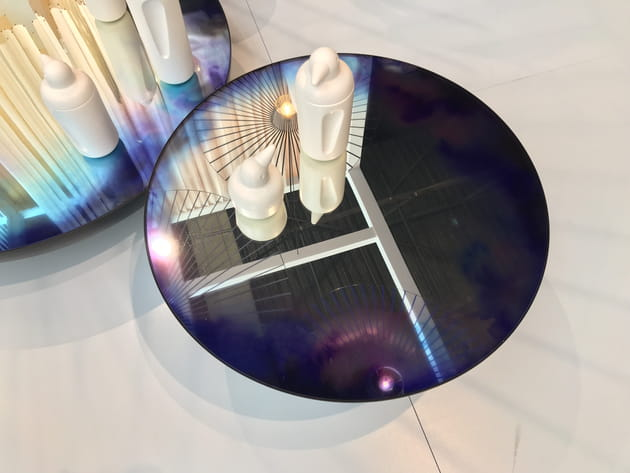 Table basse miroir Francis de Constance Guisset pour Petite Friture