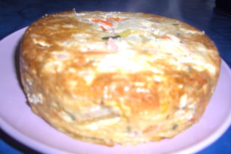 Flan légumes-crevettes