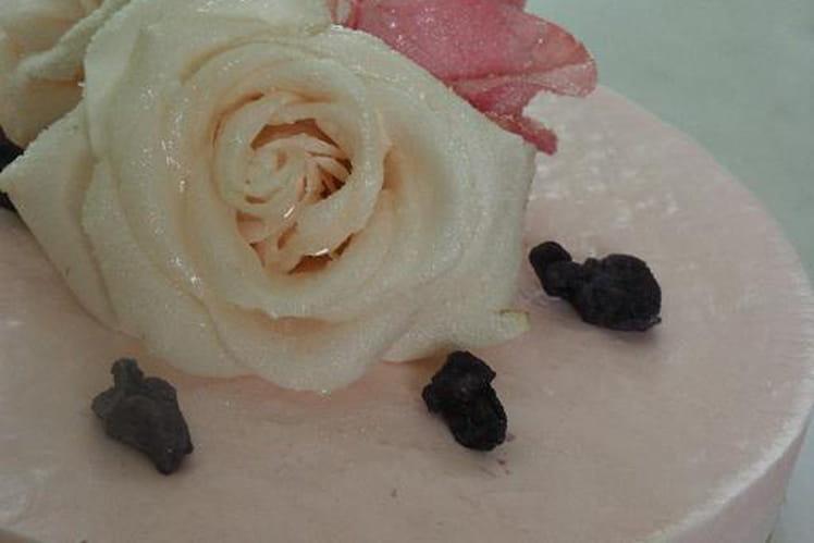 Cheesecake rose-violette