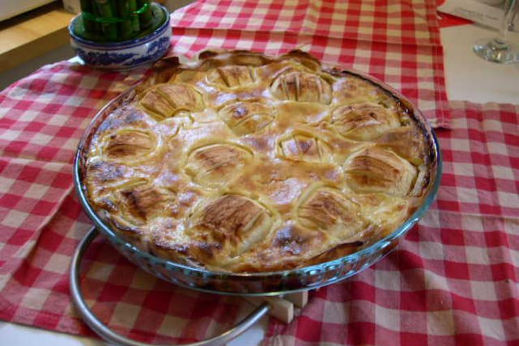 Tarte aux pommes à la crème légère