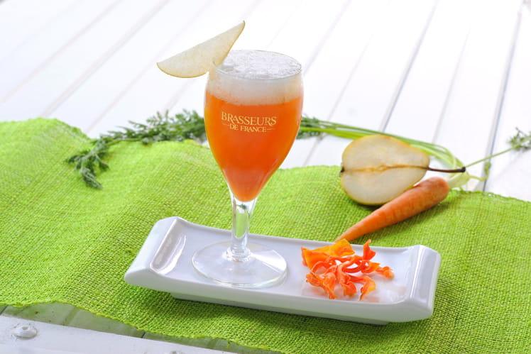 Cocktail Bière de Printemps, poire, carotte, gingembre Air de Printemps