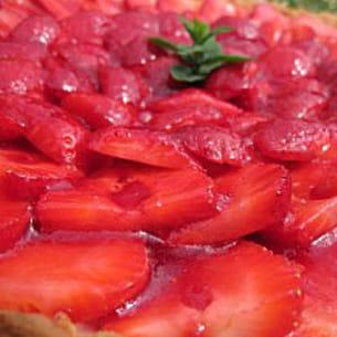 tarte aux fraises ricotta/mascarpone