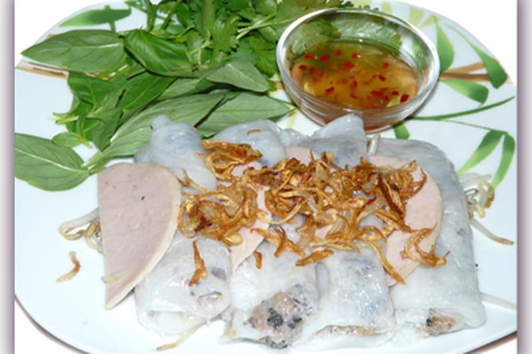 Banh cuon - Crêpes vietnamienne à la vapeur