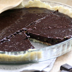 tarte choco-pistaches