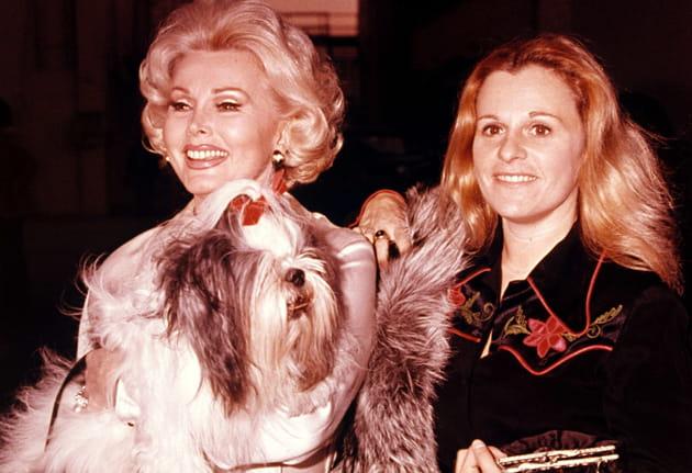 1979: avec sa fille Francesca et son chien Genghis