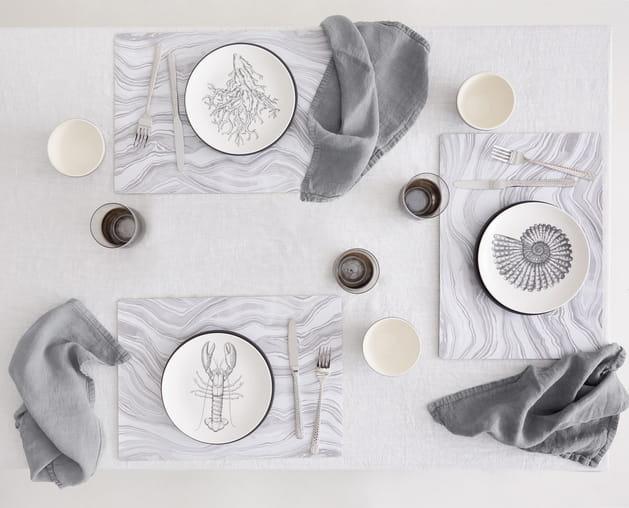 Sets de table effet marbre Zara Home