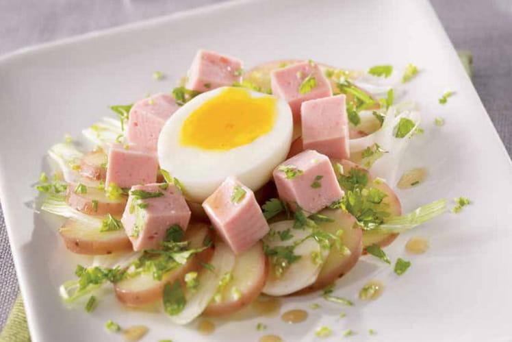 Salade de cervelas  aux pommes de terre