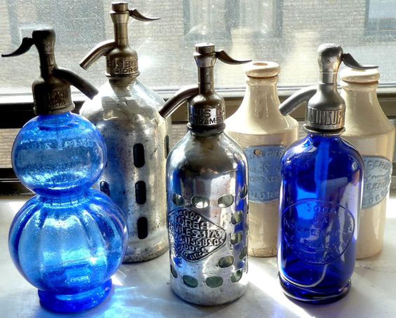 Siphon d'eau de Seltz en verre: la bouteille vintage à collectionner
