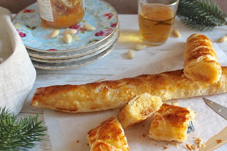 Galette des rois roulée crème d'amandes et marmelade d'oranges sanguines